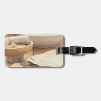 Spa and Retreat Background Luggage Tag
