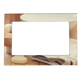 Spa and Retreat Background Magnetic Photo Frame