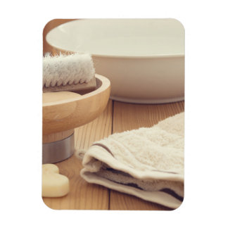 Spa and Retreat Background Rectangular Photo Magnet