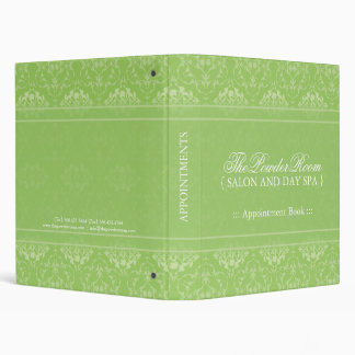 Spa and Salon Appointment Book Binder
