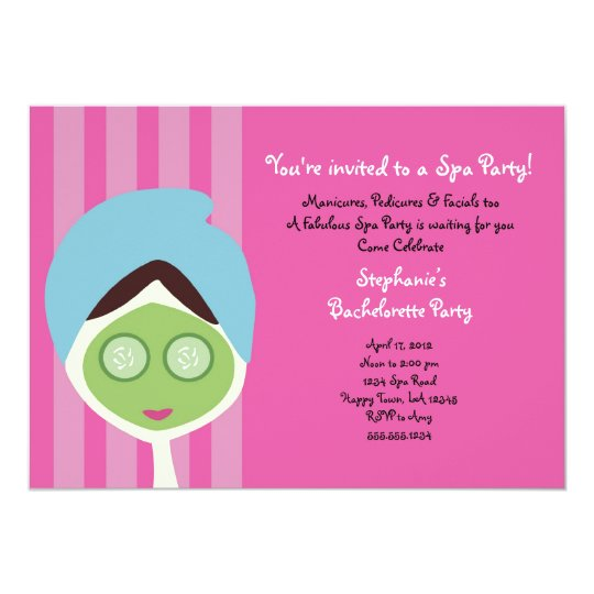 Spa Bachelorette Invitation