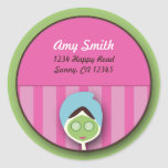 Spa Bachelorette or Birthday Seal Classic Round Sticker