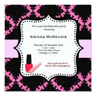 Spa Bachelorette Party Personalized Invites