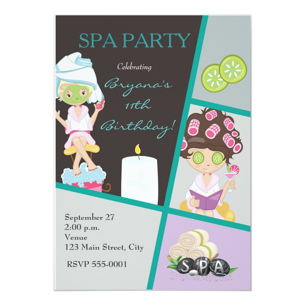\Beauty Girls Salon Makeup Party Invitation