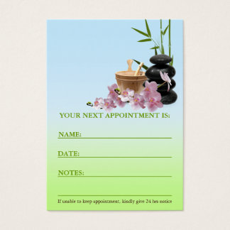 SPA & Beauty Resort Appointment Card