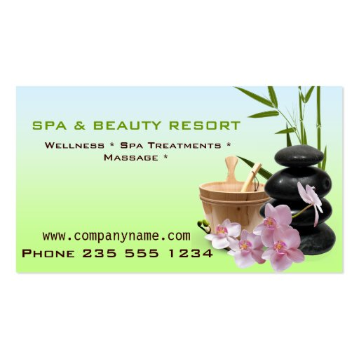 SPA & Beauty Resort  Business Cards (front side)