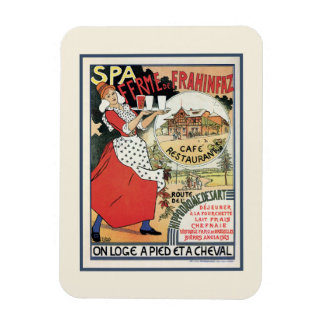Spa Belgium 1894 Café Restaurant Frahinfaz ad Rectangular Photo Magnet