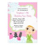 Spa Birthday Mani Pedi Party Invitation