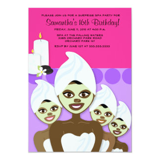 SPA Birthday or Bridal Shower 5x7 AFRICAN AMERICAN Card