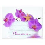 Spa Birthday Party 4.25x5.5 Paper Invitation Card