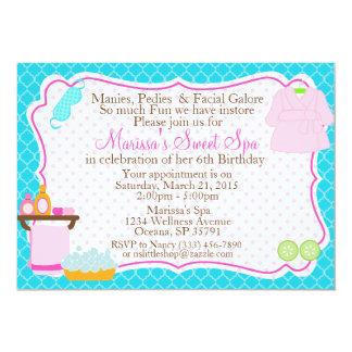Spa birthday party invitation