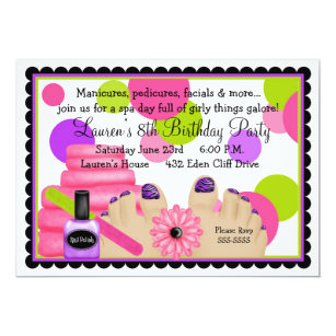 Spa party invitations announcements zazzle spa birthday party invitations filmwisefo Gallery