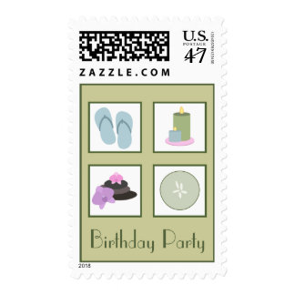 Spa Birthday Party Postage