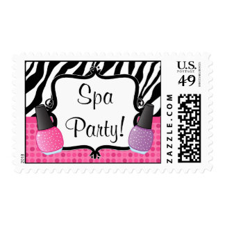 Spa Birthday Party Postage Stamp