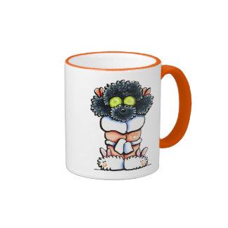 Spa Black Poodle Coffee Mugs