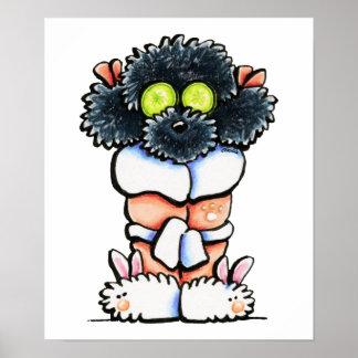 Spa Black Poodle Print