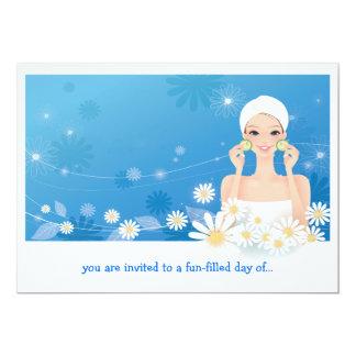 "Spa Breeze Birthday Invitation 5"" X 7"" Invitation Card"