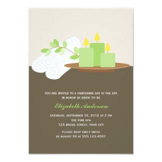 Spa Bridal Shower {green} Card