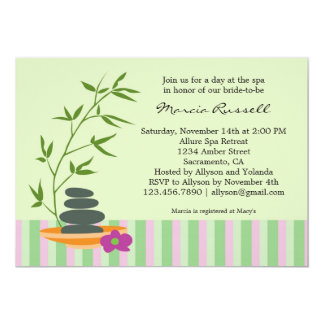 Spa Bridal Shower Invitation