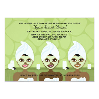 SPA BRIDAL SHOWER INVITATION - Green