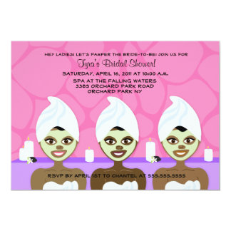 SPA BRIDAL SHOWER INVITATION Pink & Purple