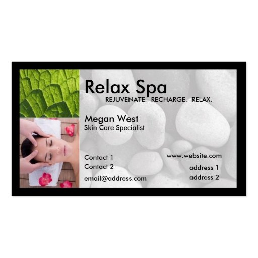 Spa business cards 10400 spa business card templates for Spa business card