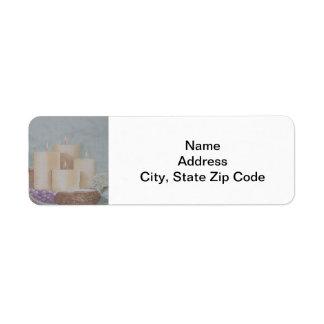 Spa Candle Return Address Labels