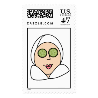 Spa Chick Stamp