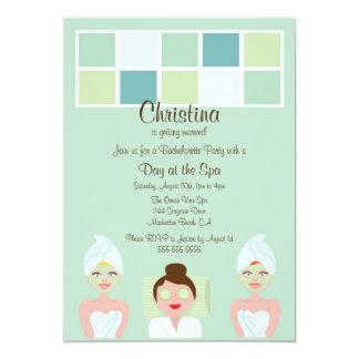 """Spa Day Bachelorette Party Invitation 5"""" X 7"""" Invitation Card"""