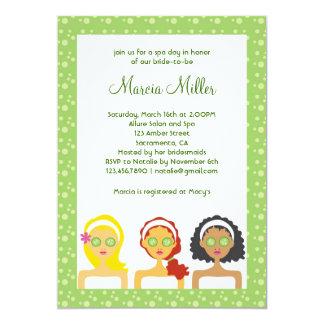 Spa Day Bridal Shower Invitation