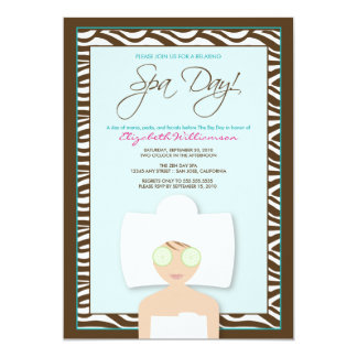 Spa Day Bridal Shower Invitation (blue)