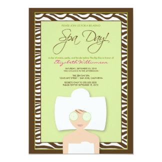 Spa Day Bridal Shower Invitation (green)