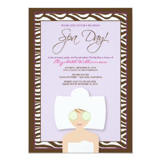 Spa Day Bridal Shower Invitation (lavender)