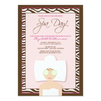 Spa Day Bridal Shower Invitation (pink)