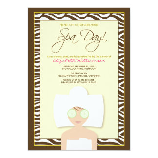 Spa Day Bridal Shower Invitation (yellow)