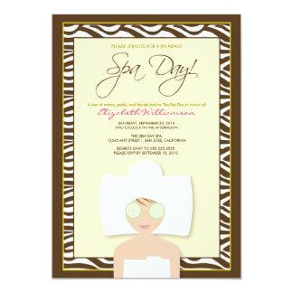 Spa Day Bridal Shower Invitation (yellow)