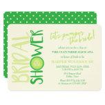 Spa Day   Let's Pamper the Bride   Bridal Shower Card