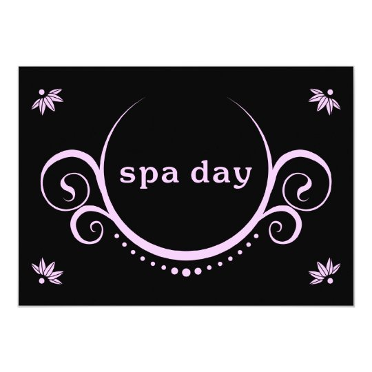spa day party card