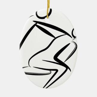Spa Day People Ceramic Ornament