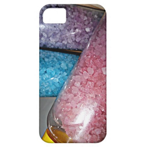 Spa decor theme pink purple blue bath salts iphone 5 for Pink and blue bathroom accessories