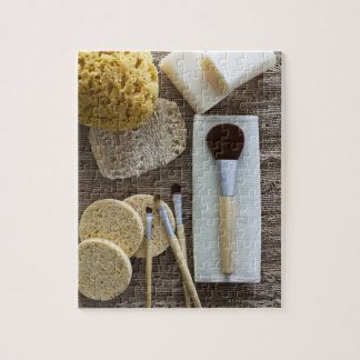 Spa detail of sponges and brushes jigsaw puzzle