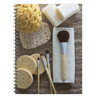 Spa detail of sponges and brushes note book