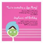 Spa Girl Square Invitation