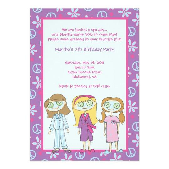 Spa Girls Invitations: Cucumbers Card