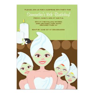 SPA Girls PARTY Birthday or Bridal Shower 5x7 Invite