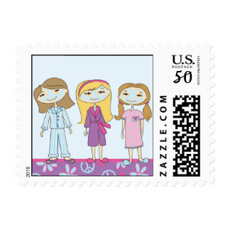 Spa Girls Postage Stamps