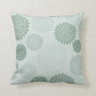 Spa Green Flowers Pillows