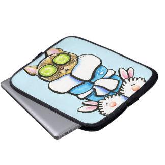 Spa Kitty Cat Laptop Sleeve