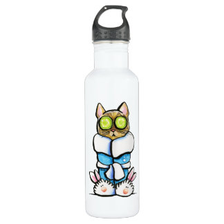 Spa Kitty Cat Stainless Steel Water Bottle