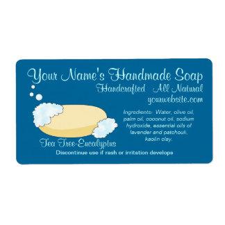 Spa Look Natural Soap Labels Design Template